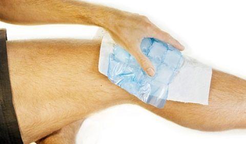 Лечение артрита коленей сухим холодом