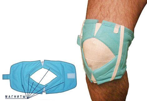 Магнитные наколенники используют для лечения суставов.