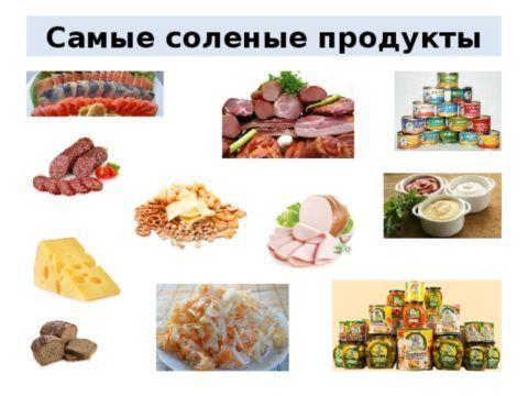 Частое употребление соленых продуктов может привести к отложению солей