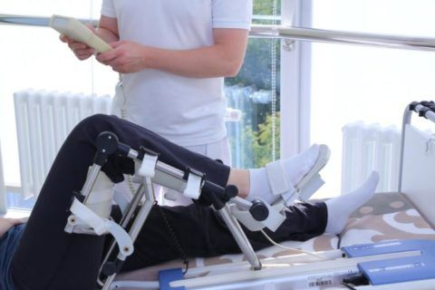 Вид колена после эндопротезирования