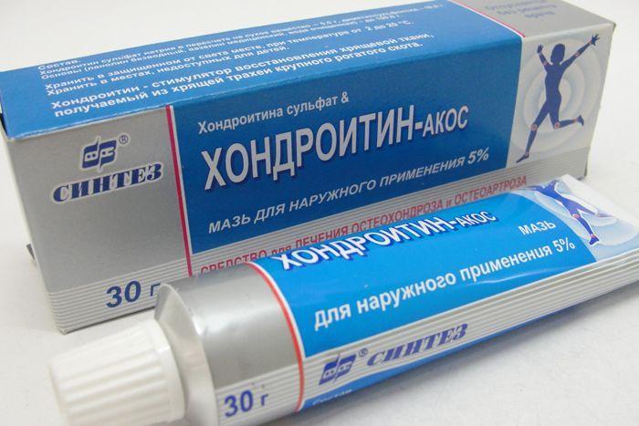 Мазь для суставов с хондроитином: состав, применение, эффективность