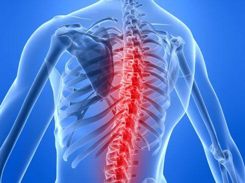Поражение грудного сегмента встречается реже остальных