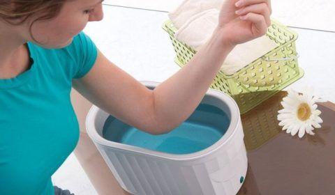Ванночка для локтя с бишофитом или морской солью