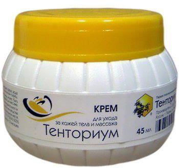 Крем «Тенториум» можно использовать для бережного массажа больных сочленений.