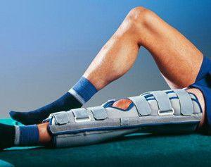 Ортез для иммобилизации больной ноги