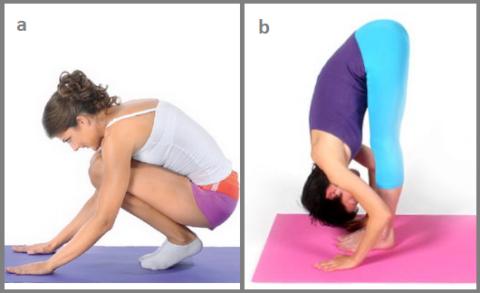 Поправки для «a»: основания ладоней должны быть у пальцев ног, а пятки на полу