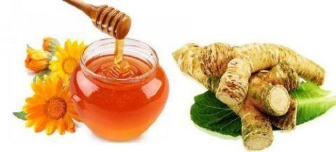 Смесь проваренного корня хрена и меда обладает хорошими восстанавливающими свойствами для сочленений.