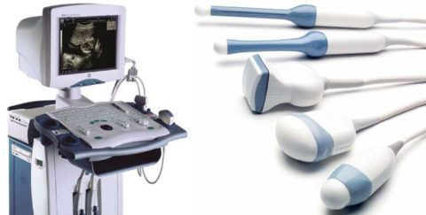 Аппарат УЗИ и насадки для проведения диагностики разрыва связок