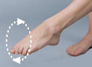 Круговые движения в голеностопе