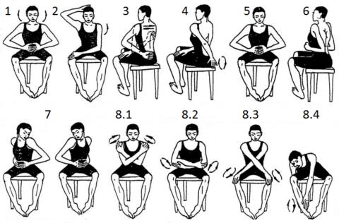 Разминка для больных суставов с элементами Цигун