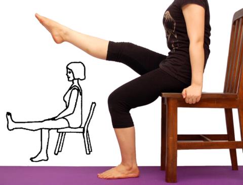 В указанном положении, пациентам с коксартрозом и выраженным артритом, тянуть носок необязательно