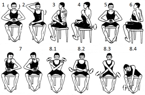 Эта разминка для больных суставов, заимствована из практики Цигун