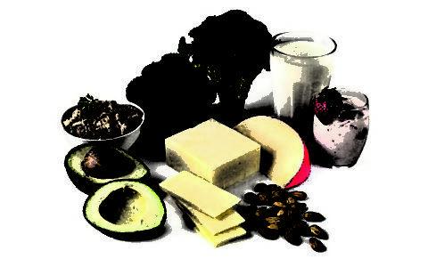 Продукты питания должны содержать кальций