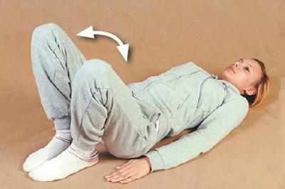 Разведение согнутых ног в стороны