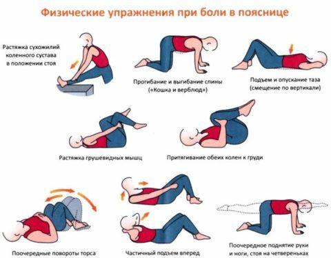 ЛФК против боли в пояснице при остеохондрозе