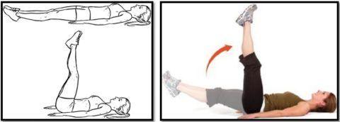 Поднятие и опускание ноги