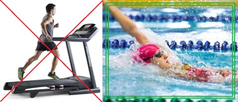 С проблемами в спине для получения аэробной нагрузки следует посещать бассейн