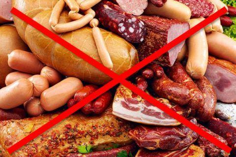 Важно отказаться от всего жирного и копченого
