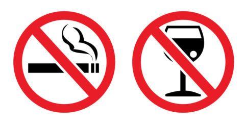 Вредные привычки наносят вред всему организму.