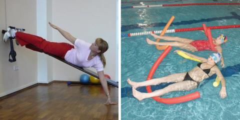 Главные методы лечения грыжи – ЛФК-гимнастика, специальные занятия в воде, плавание
