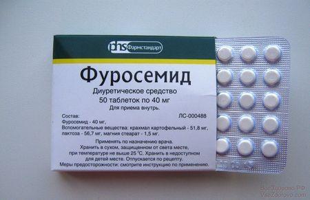 Иногда для снятия отечности суставных соединений выписывают мочегонные препараты.