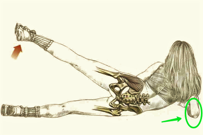 Подъём ноги лёжа на боку