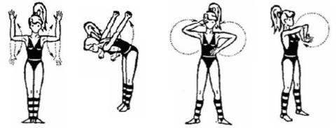 Движения в плечах и локтях усиливают кровообращение и лимфоотток в лучезапястьях