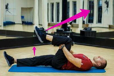 Подъём и выпрямление колена