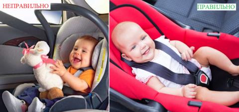 Сидеть в таком положении в автомобильной люльке ортопеды рекомендуют детям до 3 лет