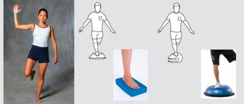 Удержание равновесия укрепляет вестибулярный аппарат, глубокие мышцы спины, улучшает осанку и походку