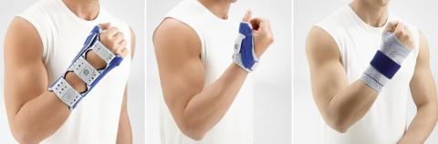 Тутор с ладонными ребрами жесткости, напульсник с фиксацией большого пальца, динамический бандаж