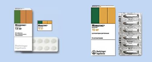 Действующее нестероидное противовоспалительное вещество препаратов Мовалис — мелоксикам (группа оксикамов)
