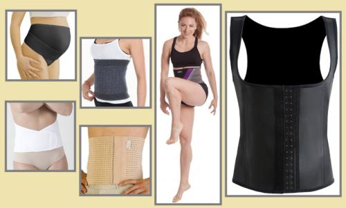 Эластичные пояса и латексное поддерживающе-формирующее белье