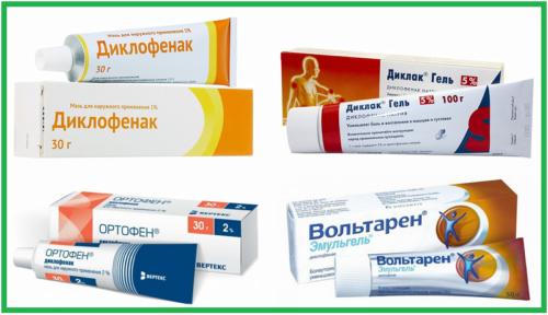 Торговые названия суставных наружных средств, содержащих диклофенак натрия