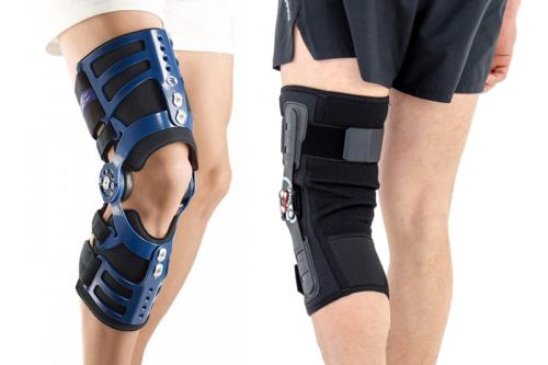 Помимо действенной помощи, брейсы на колено вносят в облик оттенок фантастичности