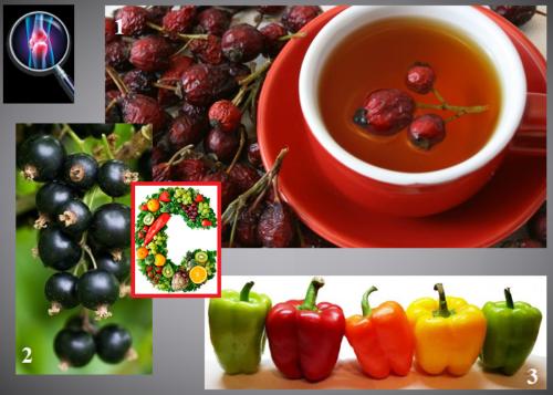Продукты — лидеры по содержанию аскорбиновой кислоты (витамин С), важны для здоровья суставного хряща