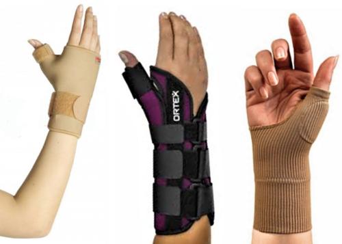 Полужесткий, жесткий и эластичный бандажи для лучезапястного сустава с поддержкой большого пальца